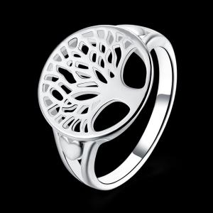 Alloy Tree of Life Round Ring - Argent 7
