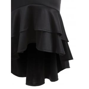 Bodycon High Low Mermaid Skirt - BLACK S