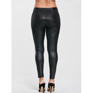 High Waist Fitted Sport Leggings with Lace -