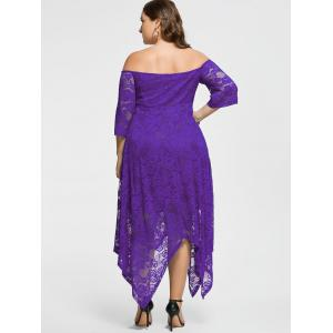Off The Shoulder Plus Size Maid of Honor Dress - Pourpre 5XL