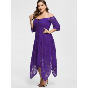 Off The Shoulder Plus Size Maid Of Honor Dress