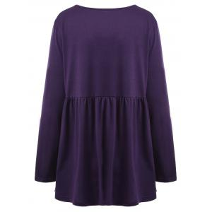 Plus Size Empire Waist Bowknot Tee -