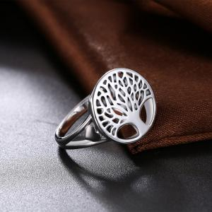 Alloy Tree of Life Round Ring -