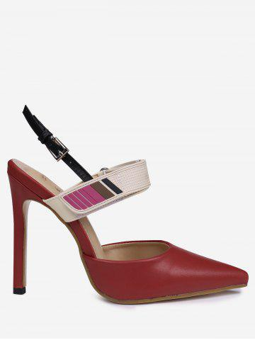 Buy Slingback Stiletto Heel Pumps - 37 RED Mobile