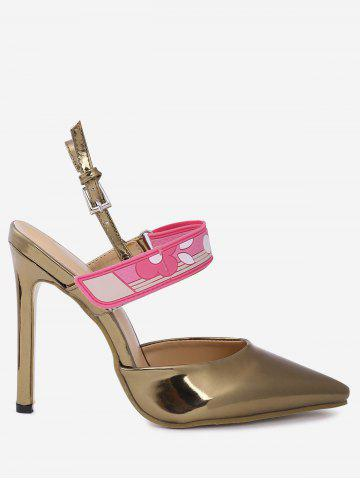 Discount Slingback Stiletto Heel Pumps GOLDEN 39