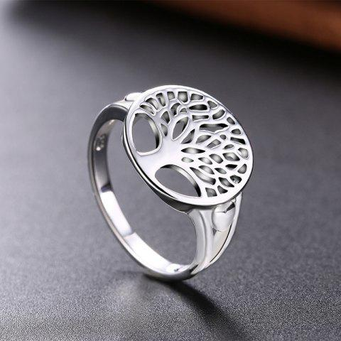 Alloy Tree of Life Round Ring Argent 8