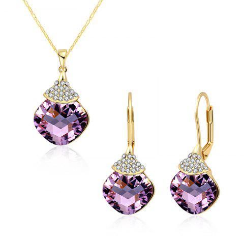 Unique Zircon Fruit Shape Pendant Necklace and Earrings