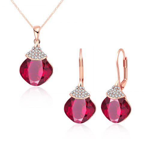 Discount Zircon Fruit Shape Pendant Necklace and Earrings