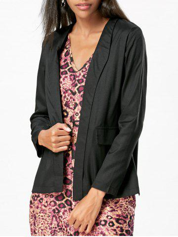 Latest Chiffon Blazer - L BLACK Mobile
