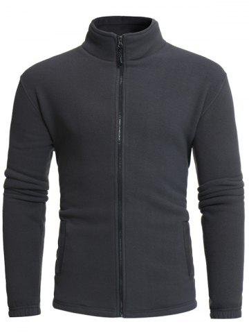 Latest Thicken Stand Collar Zip Up Fleece Jacket