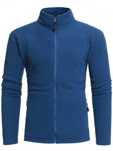 Zip Pockets Warm Fleece Jacket