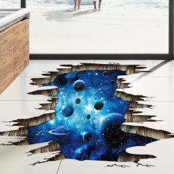 Planets 3D Broken Floor Sticker For Bedroom -