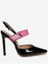 Slingback Stiletto Heel Pumps - BLACK 39