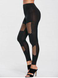 Fishnet High Waist Sport Leggings -