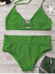 High Waist Unlined Bikini Set -