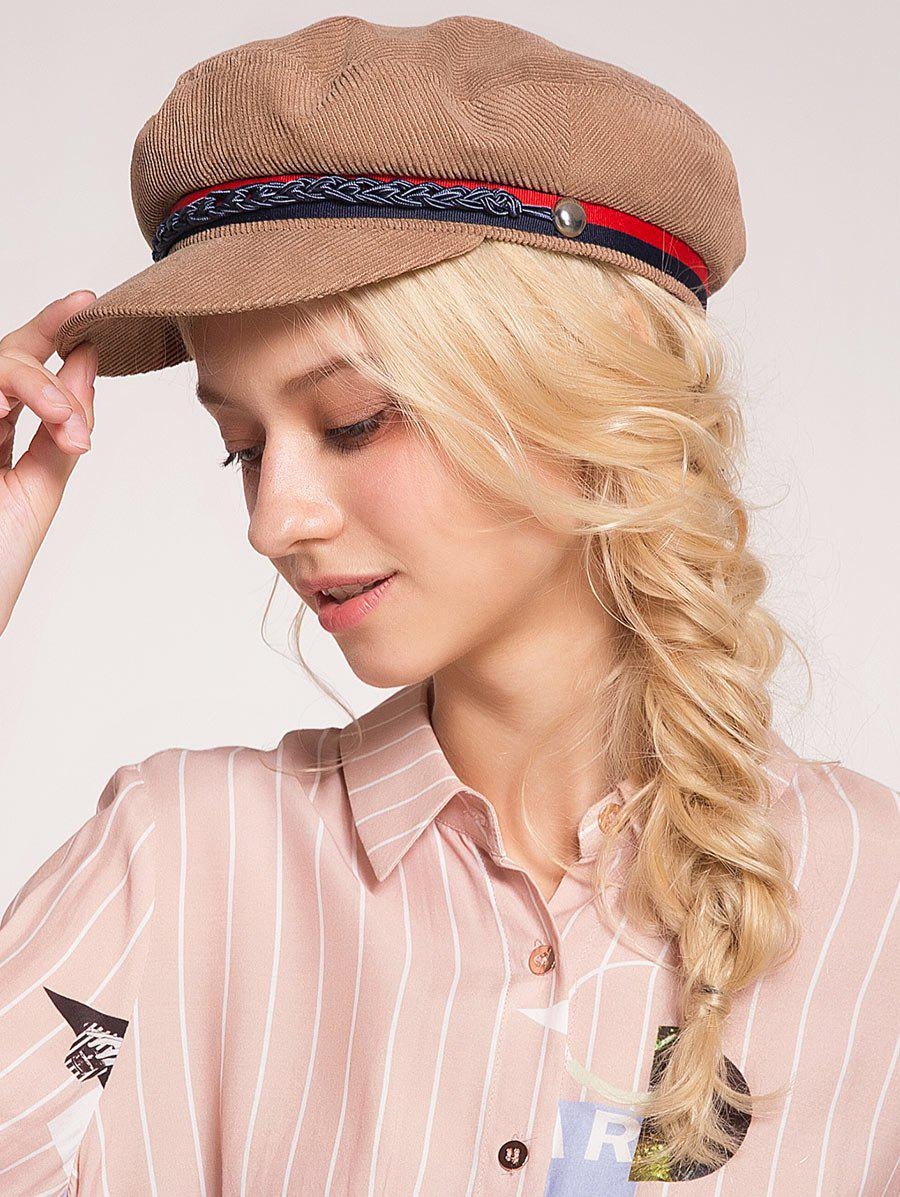 Buy Pinstripe Beret Hat with Woven Rope