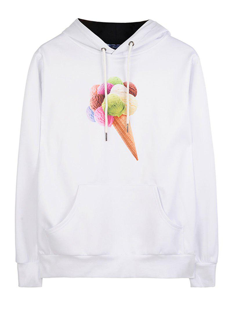 New Print Ice Cream Kangaroo Pocket Hoodie