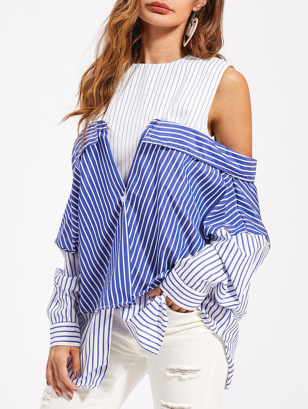 Fashion Stripe Convertible Tunic Shirt