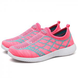 Breathable Geometric Pattern Athletic Shoes - PINK 39