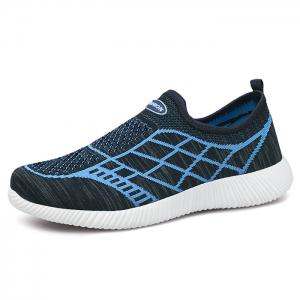 Breathable Geometric Pattern Athletic Shoes - DEEP BLUE 40