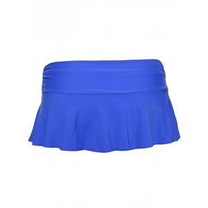 Scrunch Skirted Swimming Bottom - ROYAL L