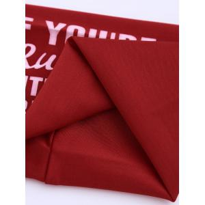 Letters Printing Running Headband - Rouge