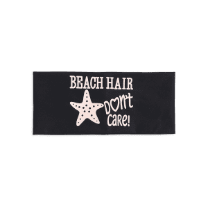 Hip-Pop Letters Starfish Printed Elastic Headband - BLACK