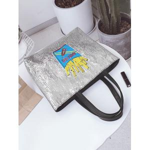 Sequins Chips Pattern Shoulder Bag -