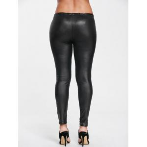 High Waist Sheer Sport Leggings with Lace -