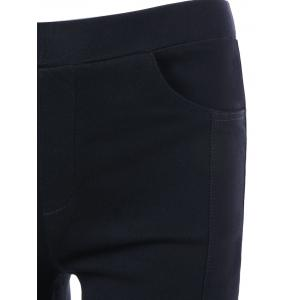 Four Pockets Slim Bootcut Pants - BLACK S