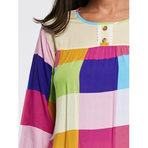 Color Block Long Sleeve Sleepwear Set -