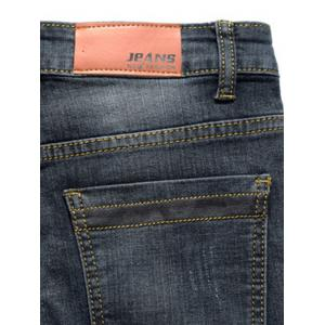 Slim Fit Zip Fly Distressed Faded Jeans -