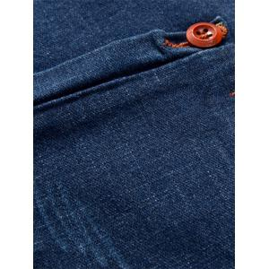 Slim Fit Button Embellished Zip Fly Jeans -