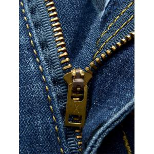 Zip Fly Cuffed Slim Fit Jeans -