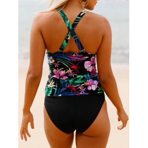 Ensemble Floral Cross Back Tankini -