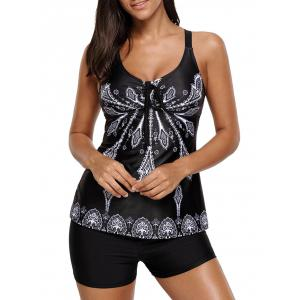 Padded Printed Tankini Set -
