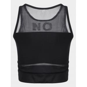 Mesh Padded On Sporty Top -