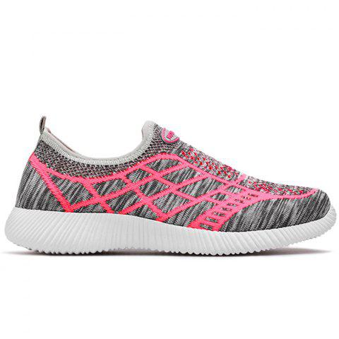 Affordable Breathable Geometric Pattern Athletic Shoes GRAY 37