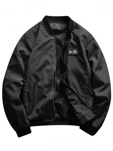 Rubber Patch Stand Collar Jacket