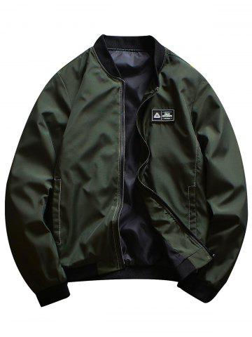 Sale Rubber Patch Bomber Jacket
