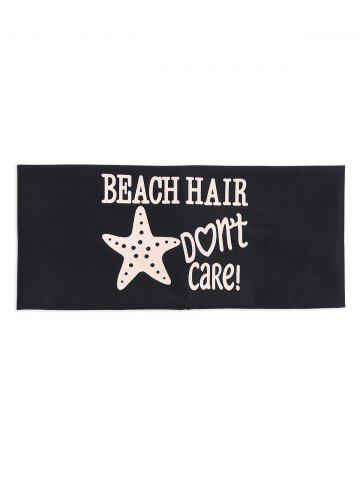 Fashion Hip-Pop Letters Starfish Printed Elastic Headband BLACK