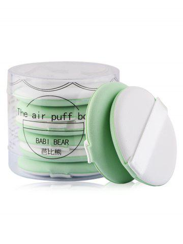 Fancy 8Pcs Portable Powder Puff Set GREEN