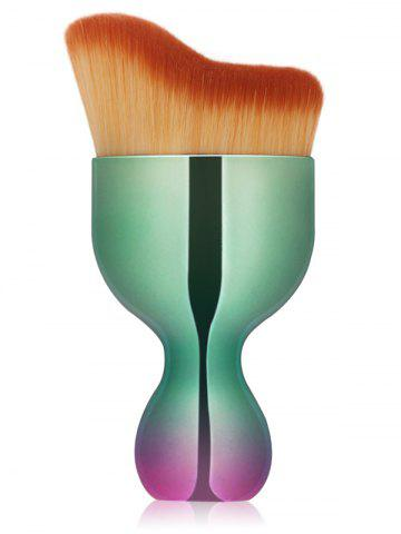 Hot Oblate Wine Glass Design Makeup Foundation Brush GREEN