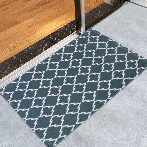 Discount Geometric Pattern Area Rug For Bathroom Kitchen - W16 INCH * L24 INCH DEEP GRAY Mobile