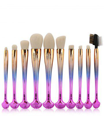 10Pcs Forme à coque Multifunction Gradient Color Brushes Set