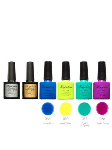 Unique Soak Off Sapphire 4 Colors Kit UV Gel Polish Set