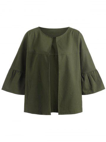 Online Military Jacket with Batwing Sleeve - S ARMY GREEN Mobile