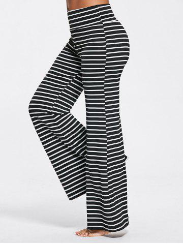 Hot Stripe High Waisted Bell Bottoms Pants - M STRIPE Mobile