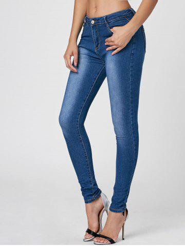 Hot Dark Washed High Waist Skinny Jeans