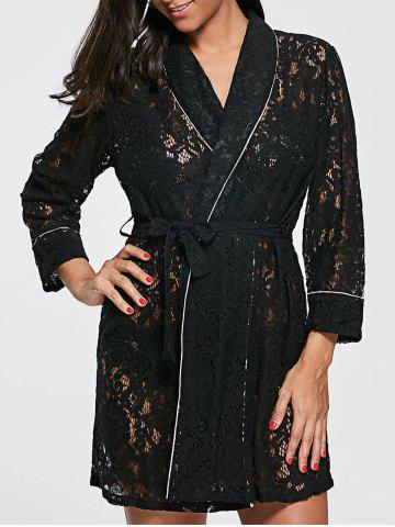 Shop Longline Lace Pajama Shirt